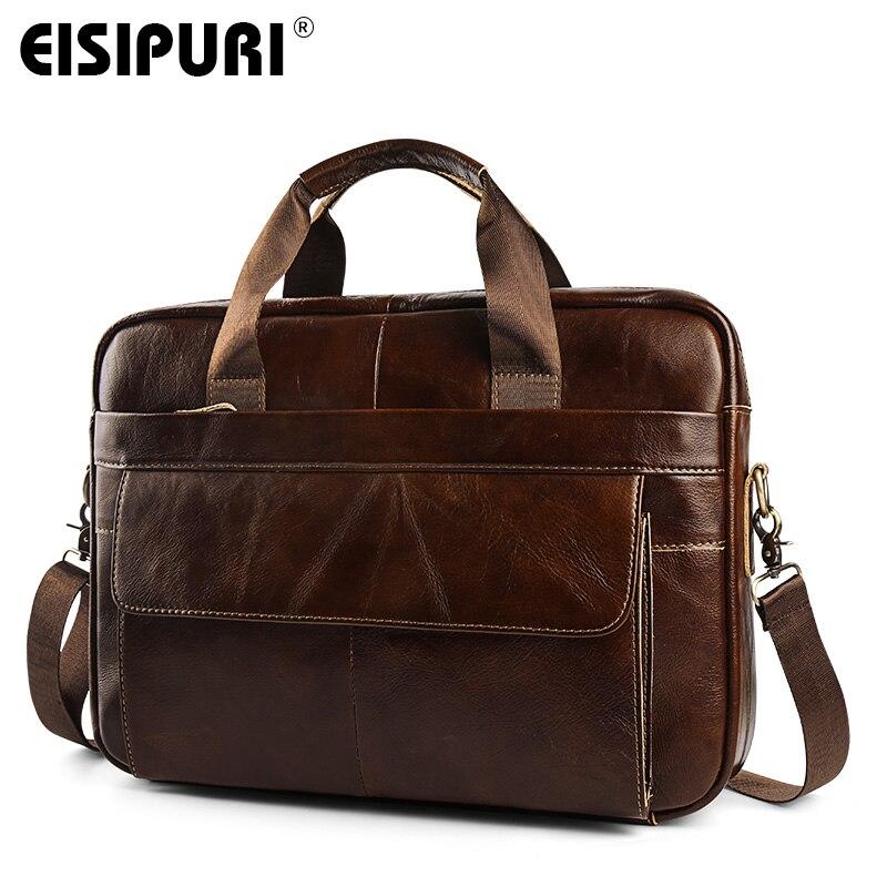 514752244 ... hombro bolsa de mensajero bolsas. Aceite de cera de los hombres de  cuero genuino de negocios maletín cartera bolsos de mano