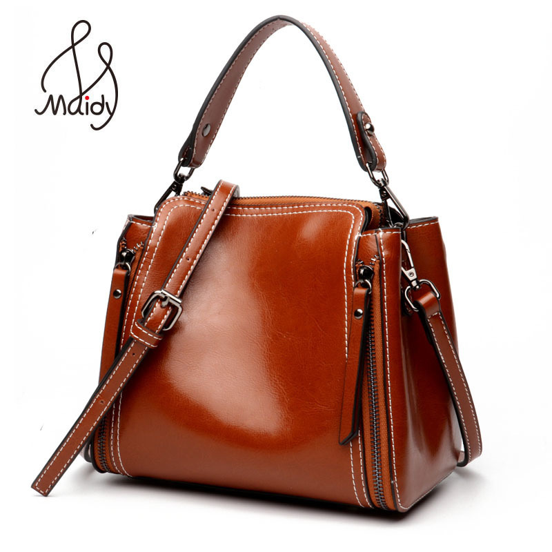 Maidy Luxury Women Ladies Real First Layer Cowhide Leather Messenger Satchel Cross Body Bags Tote Shoulder Handbags Designer New 2017 autumn and winter new genuine leather women handbags crocodile grain first layer of cowhide female shoulder messenger bags