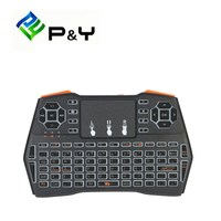 I8 Plus 2 4G Wireless Keyboard Fly Air Mouse Touchpad White Backlight Version For Andriod TV
