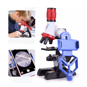 Image 3 - Zestaw mikroskopu Lab z uchwytem na telefon LED School Science zabawka edukacyjna prezent rafinowany mikroskop biologiczny na prezenty dla dzieci