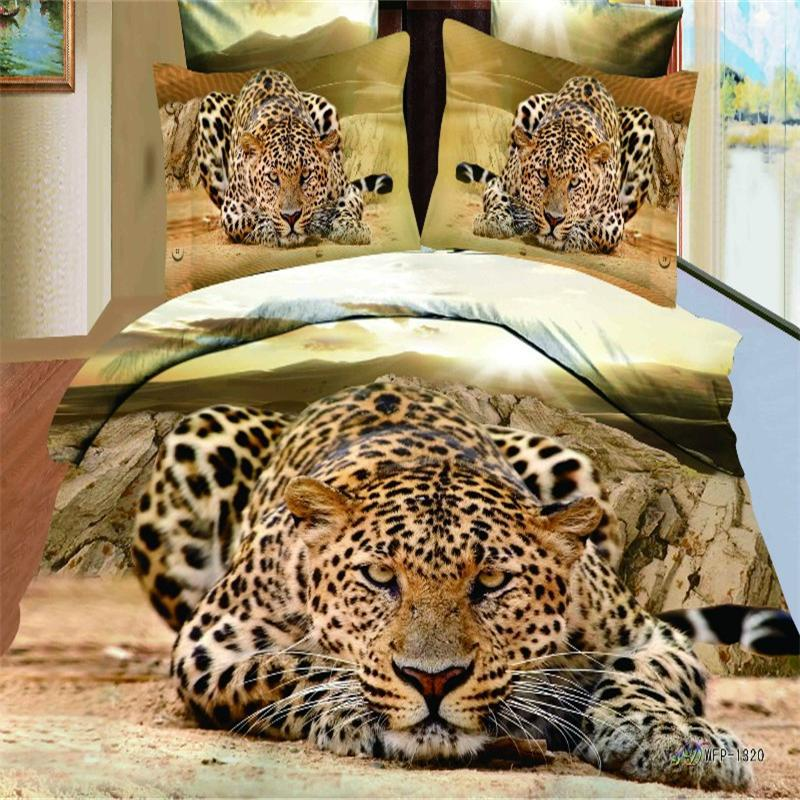 cotton 3d leopard bedding set queen size duvet cover pillowcase bedlinen  bed in a bag 4. Wildlife Bedding Set  Your Zone Purple Pieced Animal Bedding