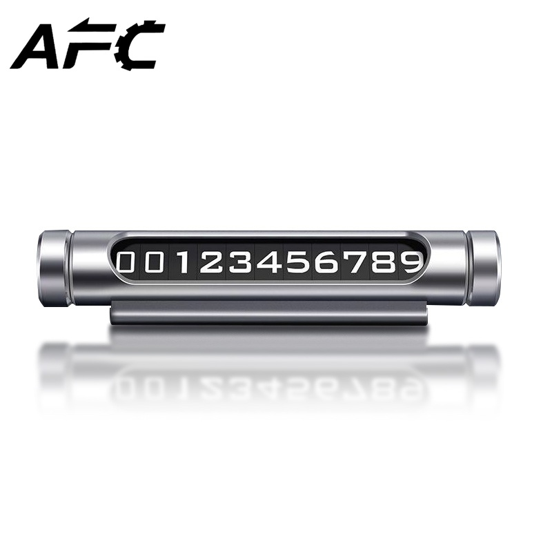 AFC Car Temporary Parking Card Luminous Rotatable Telephone Number Plate