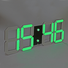 3D Digital LED Wall Clock Large Countdown Count Up Timer with Remote Control Support Alarm Temperature