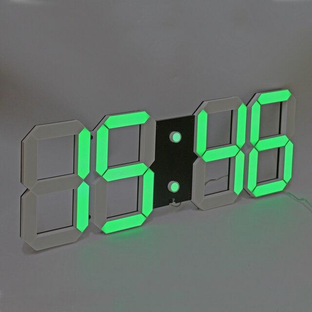 855ec1540a4 3D LED Digital relógio de Parede Grande Relógio de Contagem Regressiva  Contagem Up Timer com Controle