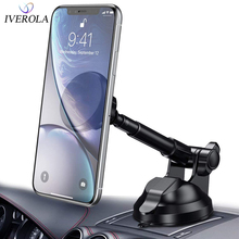 Univerola Magnet Car Windscreen Phone Holder Mobile Mount For iPhone X Max Flexible Arm Stand Universal 360 Rotation