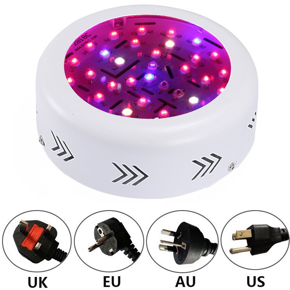 Full Spectrum Double Chips 10W Epistar 36LED AC85-265V Red+Blue+warm white+white+IR+UV LED Grow Lights Lamp for Hydroponic Plant full spectrum double chips 10w epistar 36led ac85 265v red blue warm white white ir uv led grow lights lamp for hydroponic plant