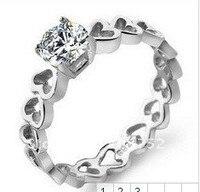 Custom Sieraden Hart Ring Maat 13 Vrouwen Ringen Unieke Zilveren Ringen Vrouwen Teen Ringen Harten Geschenken Voor Vrouwen Gratis verzending