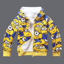 Toddler Boy Sweaters Cartoon Pattern Print Hooded Blouse Kid 3-13years Long Sleeve Cotton Fleece Baby Boy Character Sweater