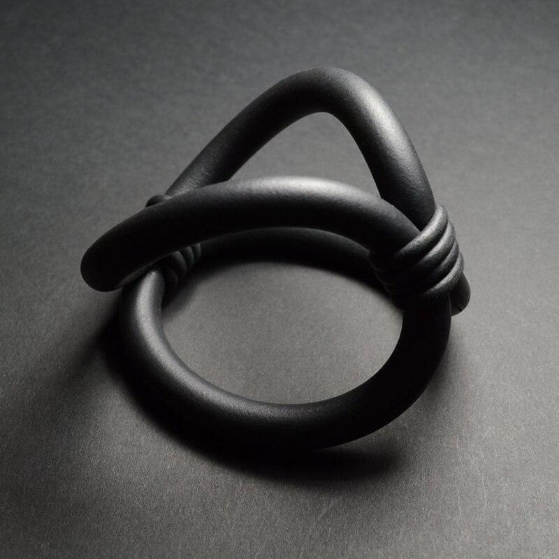 YD YDBZ Designer Handmade Harajuku Gothic Style Braceletas Simple Trendy Accessories Gift Girl Jewellery Black Rubber Bracelets in Charm Bracelets from Jewelry Accessories