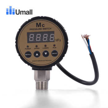 Automatic Intelligent electric Gauge High pressure digital meter Controller Air Compressor water pump Pressure Switch 0-1.6MPA - DISCOUNT ITEM  18% OFF All Category