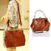 2015 New Style Women S Vintage Shoulder Bag Purse Shopper Tote Handbag Brown Hot Sale High