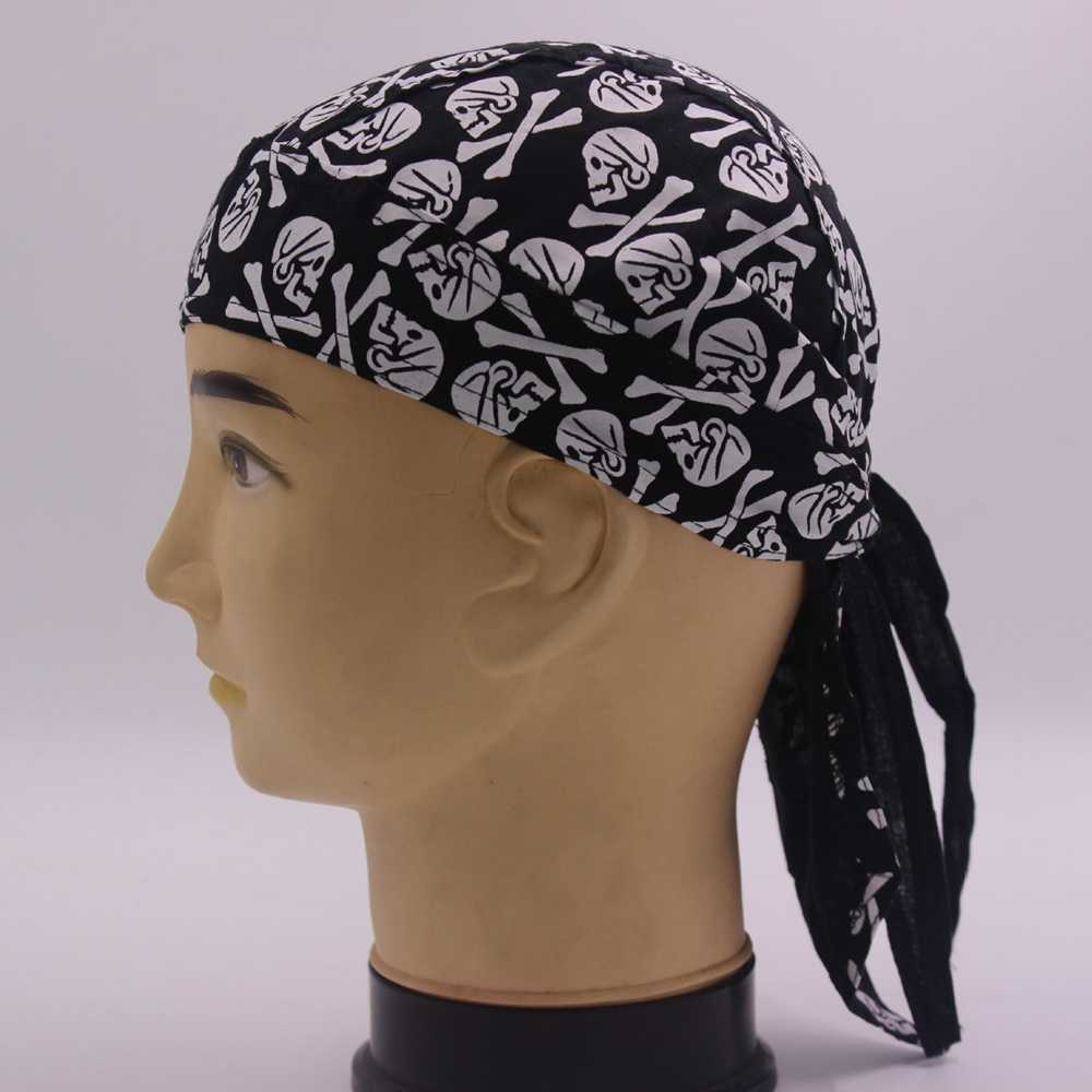 Cotton Flame Pattern Multicolor Pirates Hat Biker Bandana Scarf Head Wrap Unisex