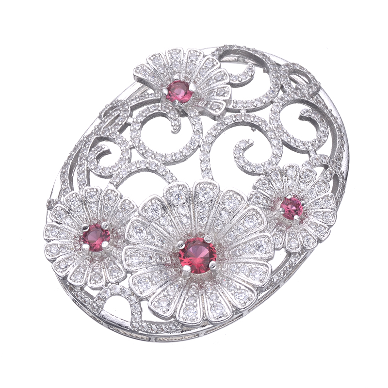 Luxury Jewelry Making Supplies High Quality Copper AAA Cubic Zirconia Stone Big Flower Pendant Connectors For Jewelry MakingLuxury Jewelry Making Supplies High Quality Copper AAA Cubic Zirconia Stone Big Flower Pendant Connectors For Jewelry Making