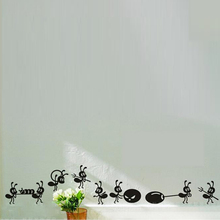 Cute Ants Deliver Food Vinyl Sticker Small Size Funny Decals For Home Glass /Window Decoration