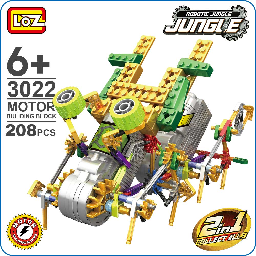 LOZ Robot DIY Electronic Kit Robot Toy Combined Robotica Jungle Animals Educativa Electric Toys Gear Motor Building Block 3022 2pcs brand new high quality superb error free 5050 smd 360 degrees led backup reverse light bulbs t15 for skoda rapid page 1