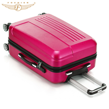 2017  Fochier 20 24 inch  ABS Hardside luggage Single Rolling Spinner 4 Wheels Travel Suitcase Luggage Set Rose Red