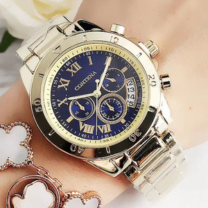 2020 Women Watches Geneva Famous Luxury Brand Fashion Gold Watches For Ladies Casual Female Quartz Watch Women's Wristwatches(China)