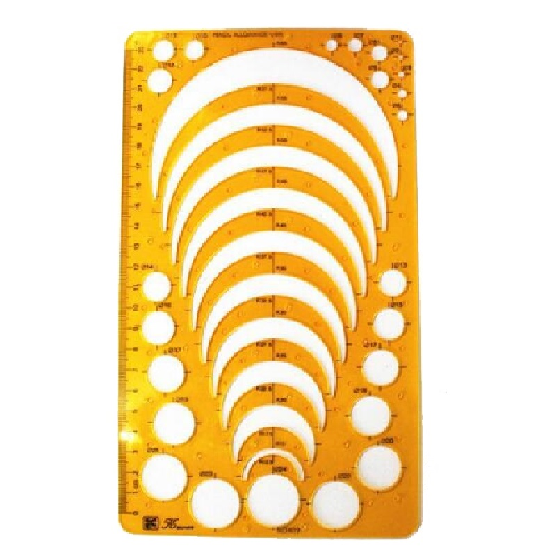 Semicircle Drafting Template Radius Drawing Template Plastic Jewelry Design Templates Flexible K19