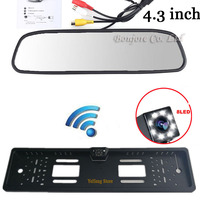 Hd 4 3 Inch Car Rearview Mirror Monitor 2 4Ghz Wireless Video Transmitter And Receiver Kit