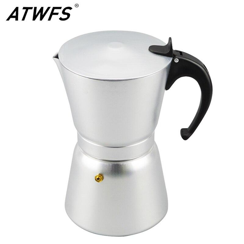 ATWFS высокомощный качественная алюминиевая кофеварка с 12 чашками, портативная кофеварка, плита, Кофеварка, Кофеварка