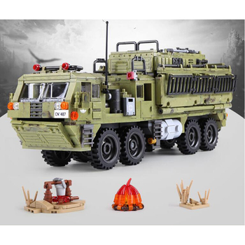 06014 military blocks 1377Pcs military Series The Scorpion Heavy Truck Set Building Blocks Bricks DIY Toys for Children Gifts