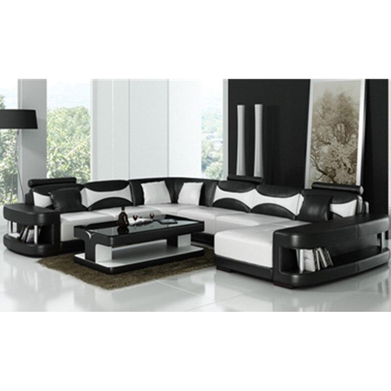modern design black and white living room sofa-in Living