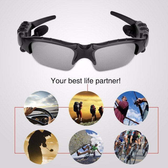 f3e744fd70 Bluetooth Polarized Sunglasses Wearable Pedometer Smart Monitoring Function  with Mic Stereo Wireless Headphone for smartphone