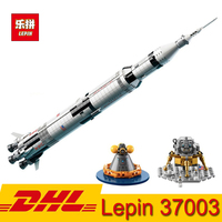 Lepin 37003 USA The Apollo Saturn V Launch Vehicle Model 1969Pcs Building Block Kid Education Toy Compatible LegoINGly 21309