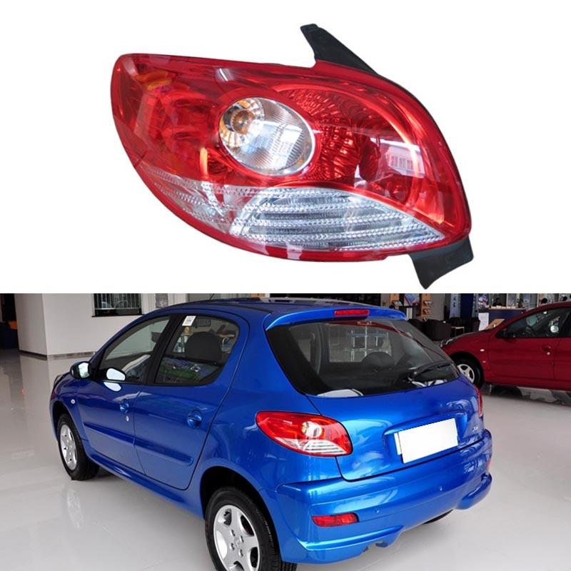 Rear Tail Light Braking Signal lamp for Peugeot 207 Hatchback Sedan 2008 2009 2010 2011 2012 2013 2014 Car Styling Fast Shipping car auto accessories rear trunk trim tail door trim for subaru xv 2009 2010 2011 2012 2013 2014 abs chrome 1pc per set