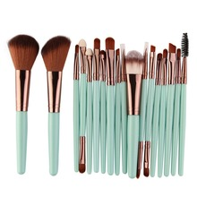 18 PCS/Set Makeup Brush Set Cosmetic Powder Foundation Brushes Make Up Brush pro 9 pcs makeup brushes set tools make up toiletry kit wool puff foundation powder case cosmetic foundation brush