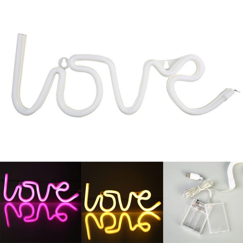 Neon Love Signs Light LED Neon Art Decorative Lights Wall Decor for Girls Bedroom House Bar Pub Hotel Beach Recreational пуловер art love art love ar029ewwxg72