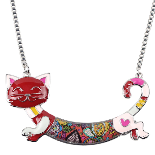 CUTE ALLOY ENAMEL CAT NECKLACE-Cat Jewelry-Free Shipping CUTE ALLOY ENAMEL CAT NECKLACE-Cat Jewelry-Free Shipping HTB1QooEXcyYBuNkSnfoq6AWgVXab