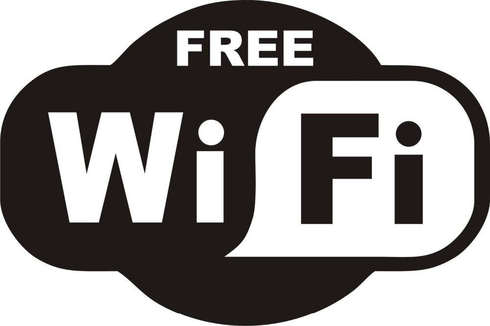 1pcs Black FREE WiFi VINYL Sticker Sign Window Cafe Restaurant Bar Pub Shop Internet Store Glass Door Windows Wall Decals J748