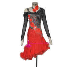 Latin Dance Skirt High Quality Black Red Tango Salsa Customized Samba Cha cha Latin Dancing Skirt Women