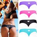 CANIS inferior tanga sexy string mini swimwear biquíni maiô mulheres Coração T-Back Beachwear Bikini Bottom Swimwear 2016 biquini