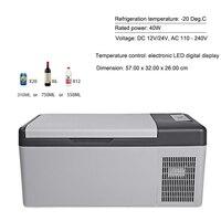 15L холодильник 12 В/24 В светодиодный цифровой Портативный компрессор автомобильный холодильник заморозить для дома путешествую 20 градусов а