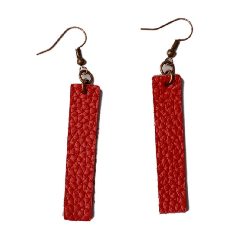 6e3d2d05a Aliexpress.com : Buy Rainbery New Long Genuine Leather Earrings Antique Looking  Various MultiColors Pendants Leather Bohemia Dangle Drop Earrings from ...