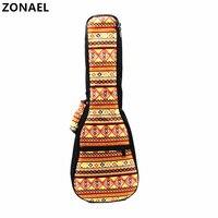 ZONAEL Hot 21 23 24 26 Inch Soprano Concert Tenor Ukulele Bag Backpack Cotton Padded Bag