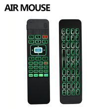 2.4G Wireless fly Air mouse T3 Air mouse Backlit White remote control for smart tv цена и фото