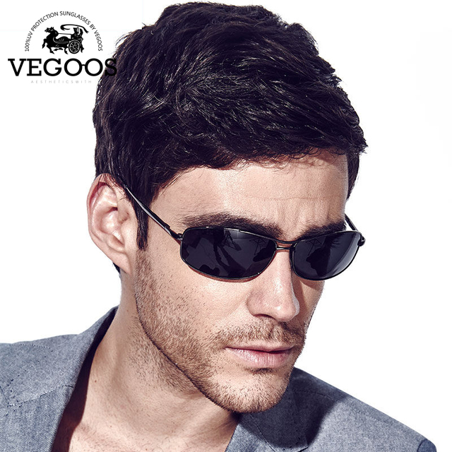 VEGOOS Luxury Brand Designer Polarized Sunglasses Men Pilot Sunglasses UV Protect Sun Glasses Eye wear man Cool #1318