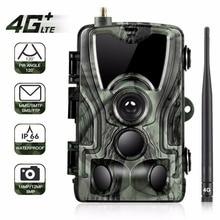Goujxcy HC801LTE 4G MMS/SMS/SMTP/FTP polowanie kamera obserwacyjna 16MP 64GB kamera nocna 0.3s wyzwalacz dzikie zdjęcie z kamery pułapki dla zwierząt
