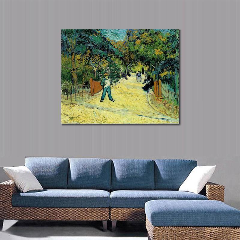 Entrance To The Public Garden In Arles Of Vincent Van Gogh Art Oil  Paintings Canvas Reproduction Hand Painted In Painting U0026 Calligraphy From  Home U0026 Garden ...