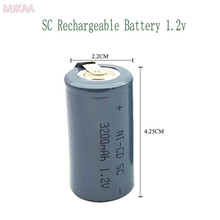 24PCS SC 1.2V 3200MAH rechargeable battery 4/5 Sub C ni-cd cell with welding tabs for electric drill screwdriver