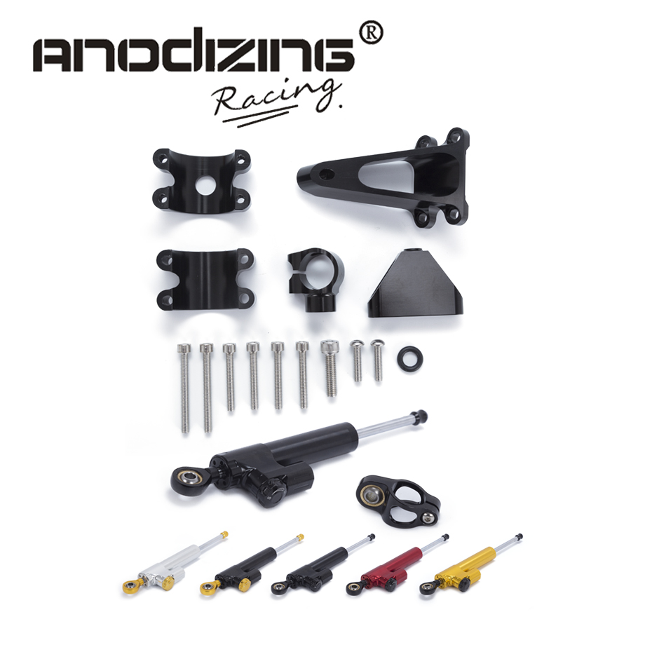 Motorcycle CNC Steering Damper Stabilizerlinear Reversed Safety Control with Bracket For HONDA CBR600 F4I 2001-2007