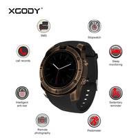 In Stock XGODY KY003 Vintage Smartwatch Men 2G Phone Call Smart Watch with Sim Card Pedometer Sleep Tracker Bluetooth Reloj Men
