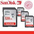 100% original sandisk ultra 128 gb 64 gb 32 gb 16 gb classe 10 c10 cartão de memória sd sdhc sdxc 80 mb/s suporte verificação oficial