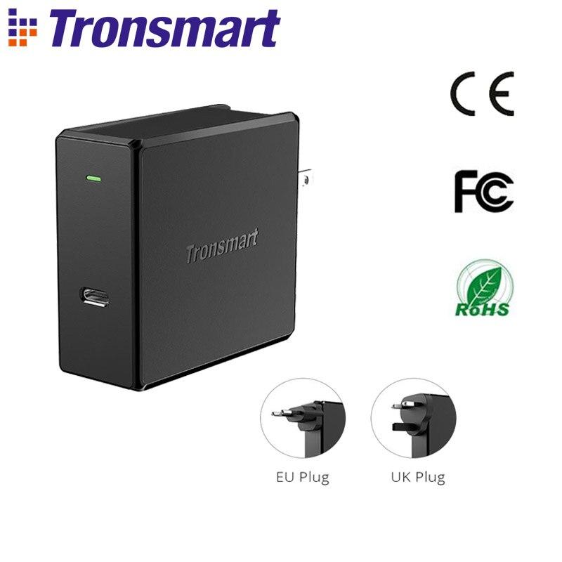 Tronsmart WCP02 chargeur mural 60 W chargeur sans fil livraison d'énergie 3.0 chargeur USB chargeur rapide pour iPhone X, Xiaomi, Samsung