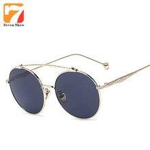 2017 Ronda Moda Steampunk Gafas de Sol Hombres Mujeres Marca Diseñador Gafas de Sol Para Hombre Espejo Shades Vintage Oculos gafas de sol