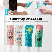 100 Ml Mini Tas Travel Lipat Emulsi Sub-Tas Sampo Penyimpanan Tas Permen Warna Lotion Kemasan Botol Wadah Makeup portable(China)