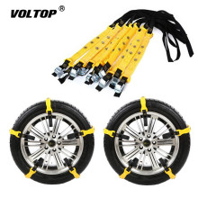 10PCS Auto Tire Snow Chains Anti-Skip Belt Safe Driving For Ice Sand Muddy Offroad Most Car SUV VAN Wheel